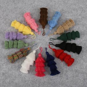 1 pc 4 camadas poliéster algodão tassel guarnição 8cm borlas de seda para decoração de casamento em casa DIY Costura cortinas acessórios h bbydqq