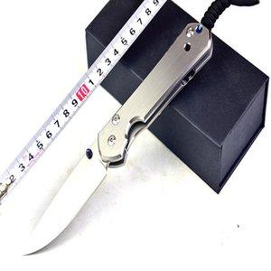 D2 Steel Classic Dasha Krissoff 21 aniversario Titanio Mango Cuchillo Supervivencia al aire libre Camping Cuchillo de caza Cuchillo plegable 1pcs Fre
