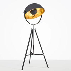 현대 미국 삼각대 블랙 플로어 램프 거실 침실 모델 룸 사진 스튜디오 북유럽 레트로 산업 수직 램프