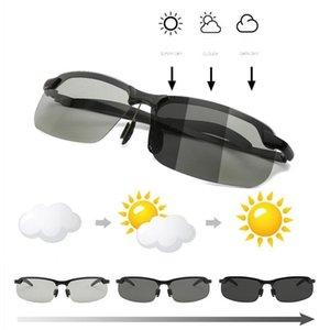 Güneş gözlüğü pochromic erkekler polarize sürüş bukalemun gözlük erkek değişim rengi güneş gün gece vizyon sürücü gözlük