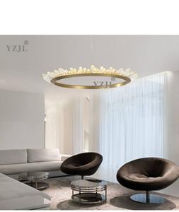 Северный кулон Crystal Light Luxury люстра кольцо виллы дуплексное здание пост современный гостиную столовая художественное творчество