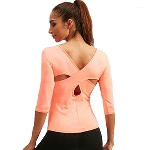 PSVTEID YOGA Top Frauen Sport Jersey Frau Kompression T-shirt Frauen T-Shirt Femme Sport Tshirt Gym Frauen T-Shirt mittleren Ärmeln1