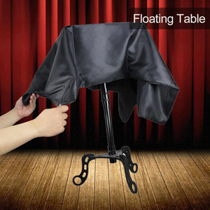 Schwarze Floating Table Magician Levitation Tricktisch Magie Fliegen Flieger Floating Table Magic Prop Tricks Zubehör Kinder Spielzeug 1020