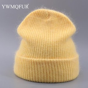 Beanie Skull Caps Autumn Winter Knitted Solid Beanies Female Skullies Hats For Women Vintage Fur Gorro Ski Girl 2021 Bonnet