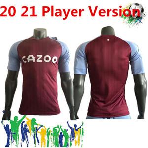 Nouvelle Aston Villa Player version Soccer 2020 21 Aston Villa maison Grealish M. TREZEGUET Wesley El Ghazi Hourihane Douglas Luiz McGinn
