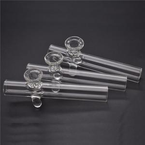 Labs Glas Handpfeife für Rauchlabor Sherlock Löffel Rohre Hand Tabakpfeife Dicke Dampfer Glas Ölbrenner Rohr mit Wabenschüssel