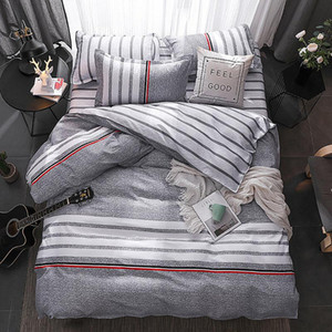 4 pcs set Bedclothes Bedding Set With Pillowcase Duvet Cover Sets Bed Linen Single Double Full King Size Covers