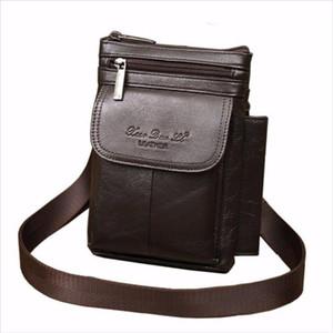 New Mens Vintage Leather Cowhide Hook Belt Buckle Shoulder Messenger Crossbody Fanny Waist Bag Wallet Pouch Packet