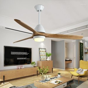 IKVVT ретро потолочные вентиляторы древесины со светом света для гостиной спальня модерн лампа дистанционного управления Ventilateur de Plafon AC220V1