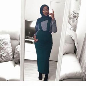 Fashion Women's Belt Skirt Overalls Dress Muslim Bottoms Long Skirts Pencil Skirt Ramadan Party Worship Service Islamic Clothing