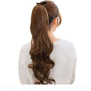 Evermagic Wrap Around Ponytail Claw Jaw in Hair Pieces Wavy Brazilian Remy Hair 100g Per Pack Human Hair Extensions