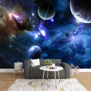 Custom 3D Mural Papel De Parede Starry Sky Universe Space Planet Photo Wallpaper For Living Room Bedroom Walls Home Decoration
