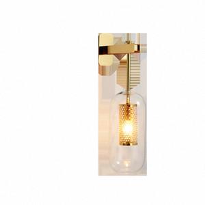 Loft Vintage industriale Edison Applique di vetro libera paralume bronzo antico nero appliques illuminazione moderna lampada lanterna Gypu #