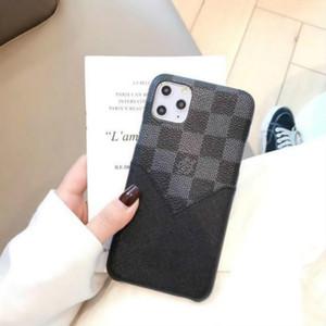 Lv.LOUISCapas de telefone para iphone 11 pro máximo 7 8 mais x xs max xr moda pu couro com saco de cartão frete grátis lvlouisvitton