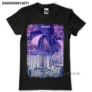 Münhasır Erkekler Tişört - Las Vegas Tasarım Meet me (SB033 - Siyah Tee) 9182110