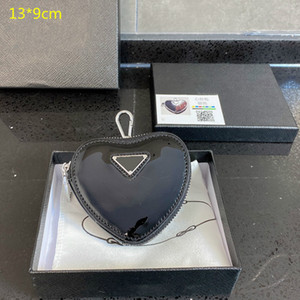 2021 Heiße Designer Mini Herz Geldbörsen Frauen Münze Geldbörsen Mädchen Brand New Mini Herz Brieftaschen Niedlichen Mode Change Bag mit Kiste PD21020201