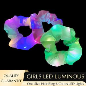 Parlayan Renk Büyük Bağırsak Saç Halkası Aydınlık LED Saç Aksesuarları Yıldız Aydınlık Kafa Halat Tasarım Ins Kadın Kızlar Şapkalar