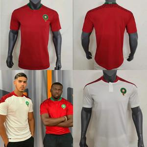 neue 2021 Marokko-Fußball Jerseys zu Hause weg 20 21 maillot de foot Ziyech Boufal Fajr Munir Ait Bennasser Amrabat Fußballhemden