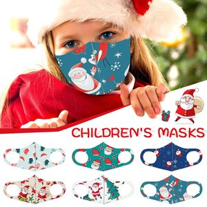 Face Children Washable Christmas Printed Mask Reusable Protective Cover Ear Hook Mouth Mufflfe Mascarillas