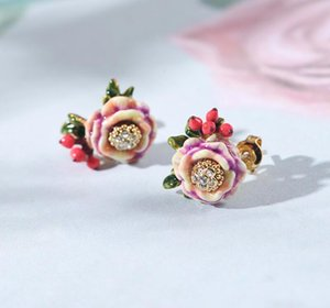 CSxjd Luxurious jewelry Enamel rose flowers tassel Earrings Women fashion earrings jewelry Y200918