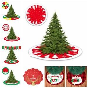 Christmas Tree Skirt Survivre Motif Arbre Pad Père Noël Arbre de Noël de fond personnalisé mer Décoration d'expédition DWB2472