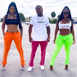 Mujeres reflexivo letra patrón pantalones moda tendencia flaco casual yoga fitness deporte jogger pantalones diseñador femenino nuevas leggings slim pantalones
