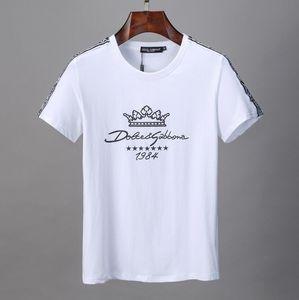 2020 Frühling Sommer Luxus Europa Paris Fuji Bergwolke Aufhellen Puff Print Tshirt Mode Männer Frauen Baumwolle Kurzarm T-Shirt # 01