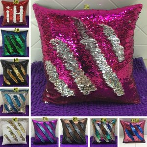 Double Sequin Pillow Case Cover Glamour Square Pillow Case Cushion Cover Home Sofa Car Decor Mermaid Pillow Covers Without core