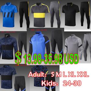 20 21 Pays-Football 2020 2021 Milan Veste de football d'hiver Vidal Lautaro Lukaku Jersey Hommes Former Tracksuits Enfants Boy Sportswear Top