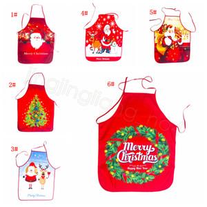 Natale Grembiule Babbo Natale Buon Natale della decorazione per la casa festa festival di regali di natale dei cartoni animati grembiuli della vita FFA4518-1