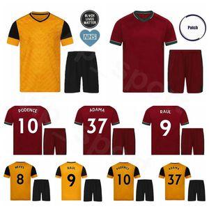 2020 2021 Wolves Soccer 9 Raul Jimenez Jersey Set 10 Daniel Podence 7 Pedro Neto 32 Leander Dendoncker Romain Saiss Football Shirt Kit