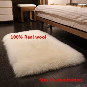 high-quality Real wool Soft Rug Chair pad Sofa Mat For Bedroom Home Decor Luxurious carpets for living room 100% real wool Rugs