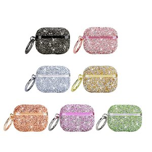 Sparkling Girly Cases Earphone Cases For Apple Airpods Pro Gen 1 2 Protector 7 Colors With Hook