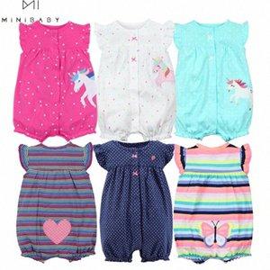 Orangemom la ropa del verano del bebé de una sola pieza trajes de ropa de bebé, algodón corto mameluco del bebé ropa Roupas menina casa ErJ3 #
