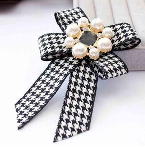 Klassische Bowknot Perle Brosche Pins Charm Corsage Broschen Hochzeit Kostüm Dekoration Frauen Geschenke Modeschmuck Zubehör