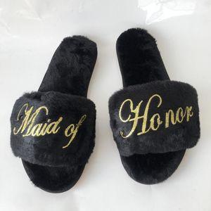 Персонализированные тапочки фрейлины невесты Bridesmaid дар для подарков свадьба мать сестра рождения оптовых продаж 1pairs много