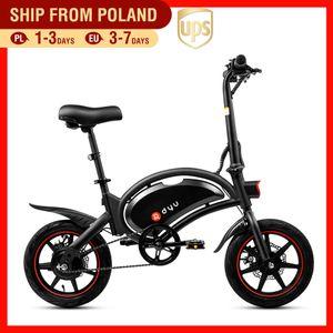 250W Elektrikli Bisiklet Kadınlar 14 Inch Mini Elektrikli Bisiklet 36V10AH Lityum Batarya şehir ebike 25km için / s Katlama e bisiklet Scooter