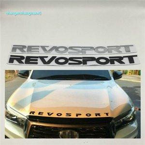 Para Toyota Revo Sport Front Hood Badge Logo logo Emblem Revosport NignWard Plack Pegatinas de coche 52x4.0cm
