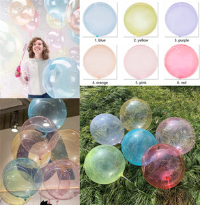 Boutique Round colored transparent balloons Bobo Balloon ball Transparent Balloons Christmas Party Wedding Decorations Kids Toy A41002