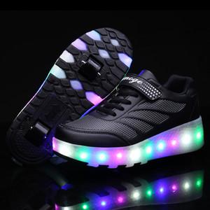2021 mais recente Sneakers luz dois com duplo 2020 Rolo LED Roda Skate Shoe Casual Lover Boy menina Zapatillas Zapatos Con Ruedas 1