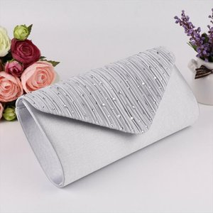 2020 The Newest Fashion Bags Suit More Clothing Womens Diamonte Envelope Clutch Shoulder Bag Purse Wedding Bridal Prom HandBags