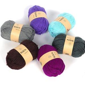 Confortable y acrílico ganchillo bricolaje Medio amortiguador grueso línea de lana hilo de coser de tejer a mano Accesorios Id4x