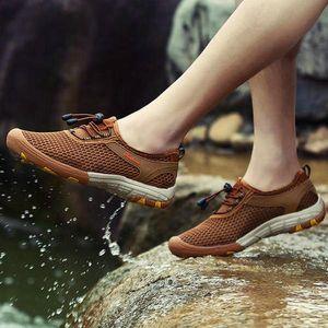 Jeesina Men Hiking Scarpe Sneakers all'aperto in maglia traspirante