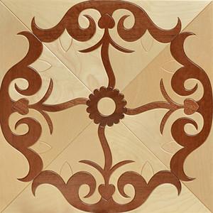 American Walnut wood floor Bevel floor fight wax wood floor Russia oak Parquet tile Wings home decoration wall cladding engineered marquetry