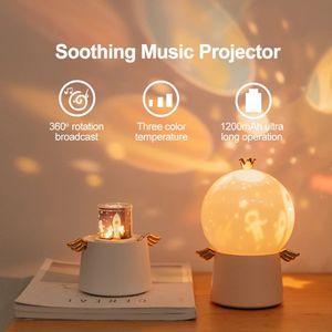 Starry Sky projecteur Night Light Music Box Angle lampe LED facturable Rotation univers coloré ocaen clignotant Star Kids cadeau bébé