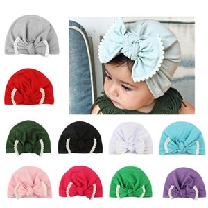 11 Colors Child Bowknot Lace Hats Europe Style Baby Fashion Hat Baby Indian Hat Children Turban Knot Head Wrapowknot Baby Girls Bow flower