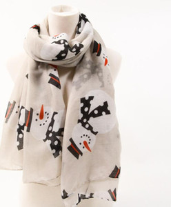 New fashion brand designer scarf female Snowman Print Scarf