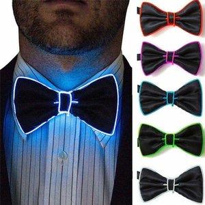 New Hot Men LED de fil cravate Bowtie clignotant Light Up El Fil Bow Tie LED La cravate des hommes lumières Bowtie fournitures de mariage Party Glow