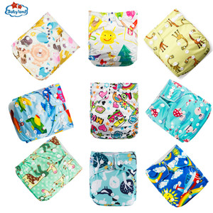 9pcs Lot Origial BABYLAND Baby Cloth Diapers Good Quality Eco-Friendly Washable Nappy Reusable Baby Pocket Diapers 3-15KG Baby 201020