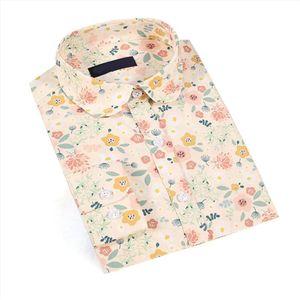 Dioufond Casual Polka Dot Shirts Femme Taille Plus manches longues Blouses Femmes Shirt Coton Mode Casima Feminina S 5XL